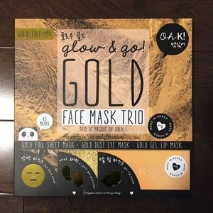 Other - New Gold Face Sheet Masks 3pcs Korean Beauty